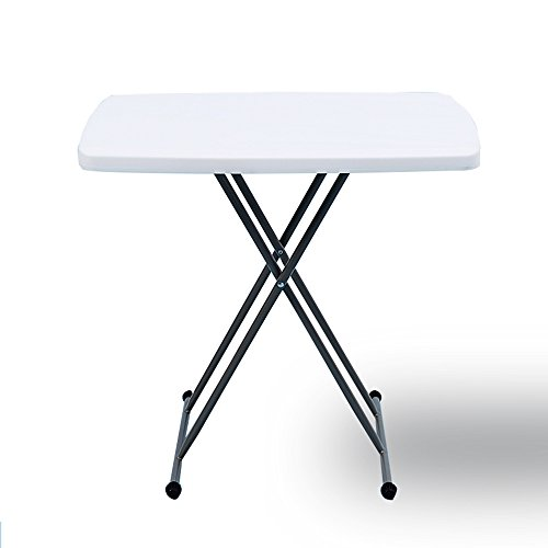 LVZAIXI Table Pliante Ronde de Table de Bistro (Couleur : Blanc)