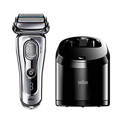 Braun Series 9 9095CC Men's Electric Foil Shaver Wet and Dry with Clean and Renew Charger Rechargeable and Cordless Razor