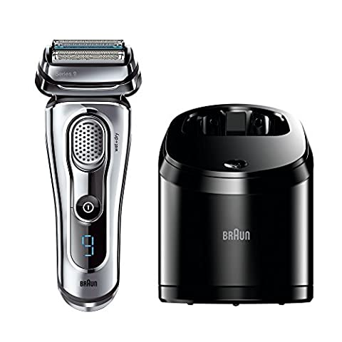 Braun Series 9 9095CC Men's Electric Foil Shaver Wet and Dry with Clean and Renew Charger Rechargeable and Cordless