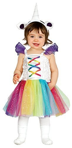 Fancy Me Baby Mädchen Regenbogen Einhorn Tutu Kleiner Pony Mythische Magisch Verkleidung Kostüm Kleidung 6-24 Months - 12-24 Months (Magische Einhorn Baby Kostüm)