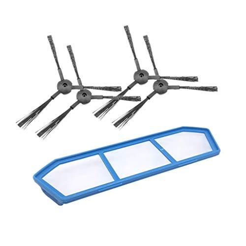 Vamoro Zubehör-Sets Staubsaugeraufsatz Filter Bürsten seitlichen Ersatzzubehör für Ilife A4 A4S A6 Kehrroboter