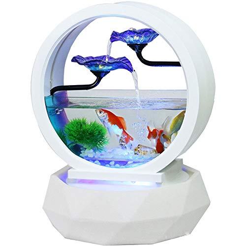 CCDZ Aquarium Wohnzimmer Inneneinrichtung Dekorationen Brunnen TV Schrank Kleine Ornamente Moderne Keramik Büro Desktop Kreative Klasse Aquarium