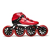 L-ELEGANT velocità in Linea Professionale Pattini Carbonio Inline Speed   Skating Scarpe Adulti Bambino Inline Roller Skates Patins velocità Pattinaggio in Linea Red EU39