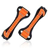 CARTO 2er-Set Notfallhammer mit Integriertem Gurtschneider - mit 2 Jahre Geld-zurück-Garantie - Fensterhammer/wichtiges Werkzeug für Notsituationen mit Dem Auto