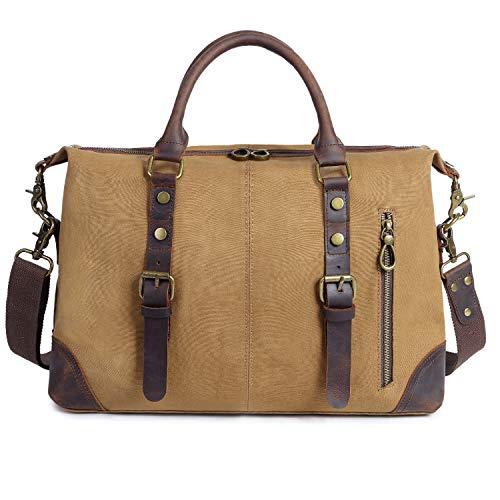 4c908c4a9a La grande sacoche cuir et toile EverVanz avec compartiment Laptop
