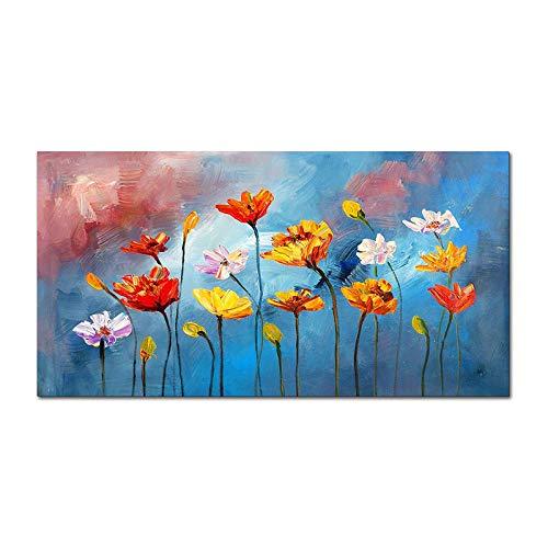 WSNDGWS Luz Minimalista Moderna Abstracto Floral Decorativo Pintura Pintura al óleo Inicio Pintura al óleo