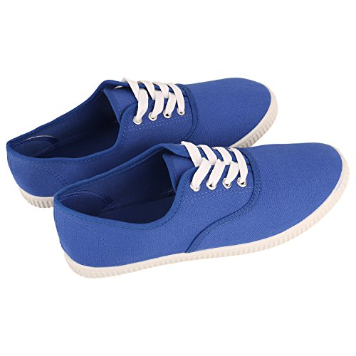 Herren Damen Unisex Sneakers Low Freizeit Turnschuhe Schuhe Bequem Blau Blue