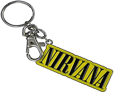 NIRVANA STITCH LOGO With Sturdy Chrome Ring, Officially Licensed Artwork - 1.25
