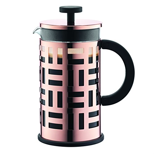 Bodum EILEEN Kaffeebereiter (French Press System, Permanent Filter aus Edelstahl, 1,0 liters) kupfer