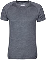 Mountain Warehouse Summit Tee-Shirt Homme Laine Merino T-Shirt Respirant Antibactérien Léger