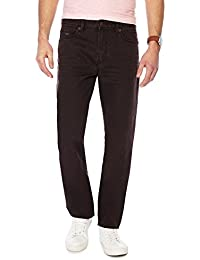 bfbefb39052fa Mantaray Men Big and Tall Brown Denim Straight Fit Jeans