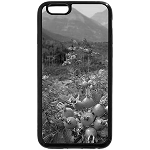 6S-Cover per iPhone Plus, iPhone 6 Plus Case & bianco (nero) e-Rocky Mountains wild (Wild Dog Rose)