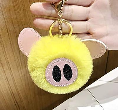 WYBL Juguetes De Cerdo para Niñas Niños Cumpleaños Regalo Colorido Suave Peluche Animal Mochila Cerdo Llavero Colgante Muñecas 12 Cm Amarillo de WYBL