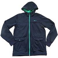 Nike da uomo ad Hybrid giacca in pile Polar 507930473Medium blu navy con cappuccio Athletic Department