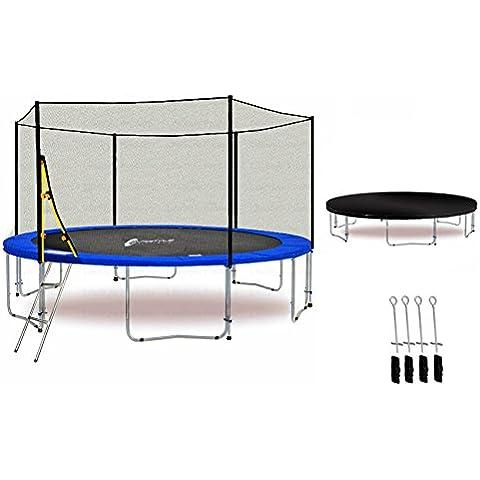 LS-T400-PA13 (B) LifeStyle ProAktiv Trampolino da giardino 400cm