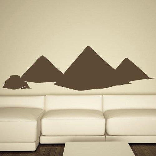 Piramidi egiziane Wall Stickers egiziano Adesivo Art disponibile in 5 dimensioni e 25 colori Medio Rosso fragola - Fragola Piramide