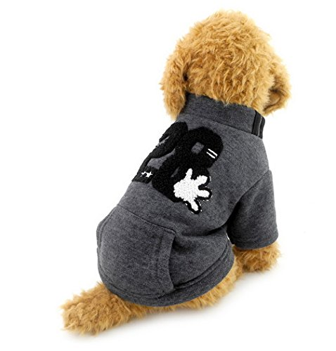 ranphy klein Hundemantel Fleece Sweatshirt Jacke gefüttert Print Puppy Pet Kleidung HAN Version (Top T-shirt Dog Doggy)