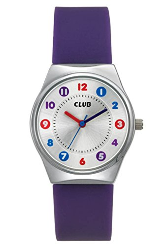 Club Mädchen-Armbanduhr Analog Quarz Silikon Violett A65180-2S4A (Jugend-clubs Und)