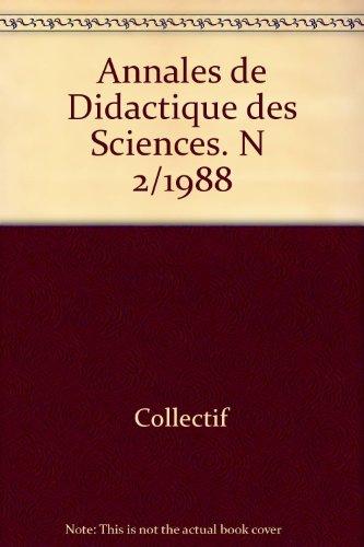 Annales de didactique des sciences: 1988 par Sans/