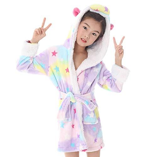 (WLJBY Kinder Erwachsene Unisex Tier Bademantel, Star Horse Tiermodellierung Pyjamas, Dickes warmes Zuhause Spaß Kleidung Freizeitkleidung,Red,130#)