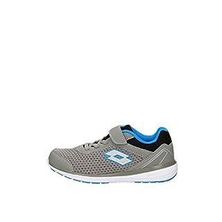 Lotto Unisex Kids' Cityride Net AMF Cl Sl Fitness Shoes, Grey (Gry CEM/SLV Mt 020), 12.5 UK Child