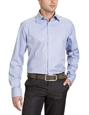 Seidensticker Herren Businesshemd 225450, Gr. 37, Mehrfarbig (15 (Streifen blau))