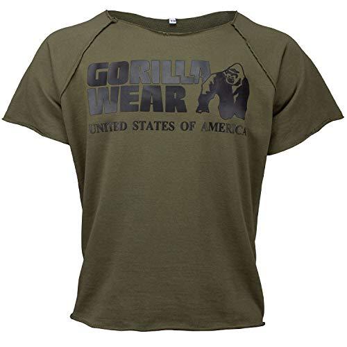 Gorilla Wear Classic Work Out Top für Bodybuilder - Strongman und Fitness Army Green S/M - Body Works Geschenk