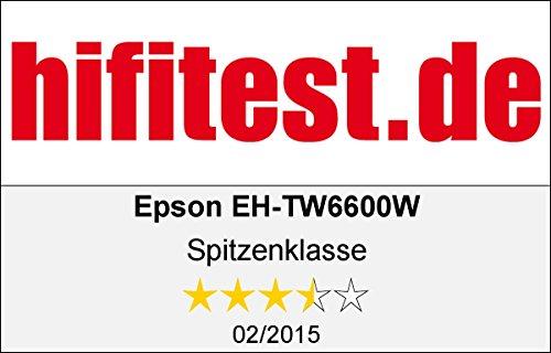 Bild 67: Epson EH-TW6100 3D Heimkino 3LCD-Projektor (Full HD 1080p, 2.300 Lumen Weiß & Farbhelligkeit, 40.000:1 Kontrast, 2x HDMI (1x MHL), inkl. 1x 3D Brille) schwarz