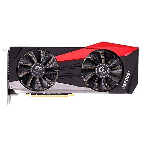 Finebuying IGame Bunte GeForce RTX 2080 Ti Grafikkarte GDDR6 11g, Ray Tracing, RGB, China Red Armor, Lüfter Stop, DP und USB Typ C (Schwarz) -