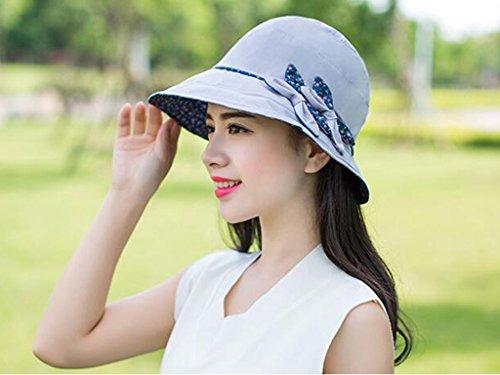 Chapeau de soleil femelle été chapeau de soleil capuchon en tissu pliable de plein air chapeau d'été Anti-UV bouchon bassin Plage Cap ( Couleur : 2 ) 2