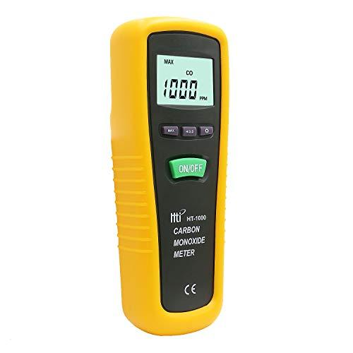 Kohlenmonoxid-Messgerät, Handgerät, hohe Präzision, CO-Gas-Tester, Monitor mit Sonde, Messbereich 0-1000 ppm, Hti-Xintai