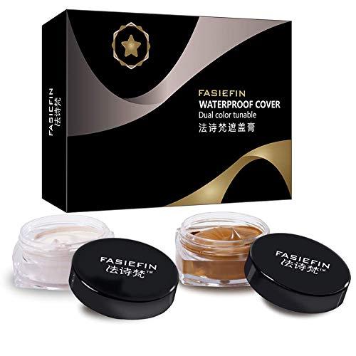 Qianren Professional Concealer Kit Light + Dark Bi-Colors