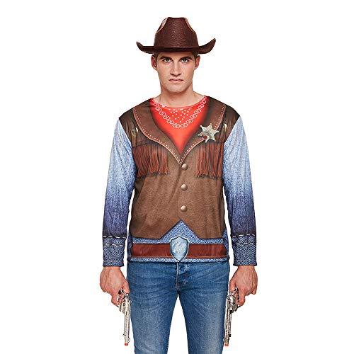 Für Herren Kostüm Cowboy - Henbrandt Herren Cowboy Kostüm (Mehrfarbig)