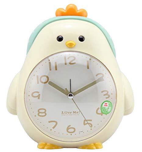 oppelter Ton Stumm Karikatur Alarm Clock Kind Schlafzimmer Nachtlicht Wecker, Beige ()