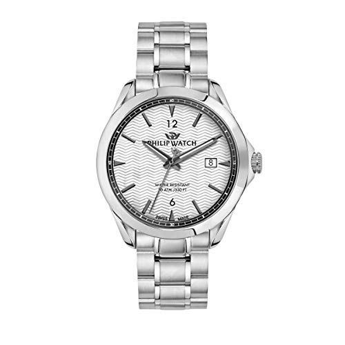 Philip Watch Men's Watch, Blaze Collection, Three Hands with Date , Made of Stainless Steel - R8253165007