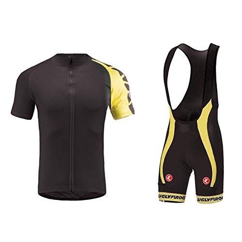 Fusion Radtrikot (Uglyfrog Erwachsene Herren Radtrikot Trikot+Kurze Hosen Bike-T Full Zip Sommer Top Cycling Anzüge with Gel Pad)