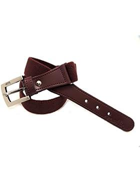 VAELLO - Cinturón elástico básico ajustable con puntera piel al tono, para infantil