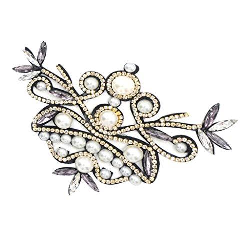 IPOTCH 2X Clip Diamantes Perlas Extraíble Hebilla