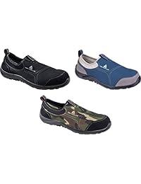 Delta plus calzado - Zapato poliester algodón suela poliuretano talla 46 gris azul