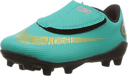 Botas Futbol Nike CR7 Jr. Vapor 12 Club Suela MG Verde Dorado Niño 0b28bb4b080f4