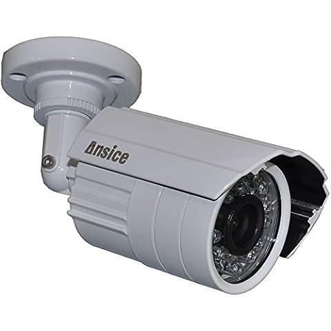 Redonda para cámara CCTV gran angular 2,8 mm 1000TVL CMOS con ir-corte Home de vigilancia para exteriores resistente al agua IP66 visión nocturna cámara de seguridad 24 LED de infrarrojos con atril