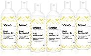 Amazon Brand - Solimo Hand Sanitizer Gel - 100 ml (Pack of 6, Lemon Oil)