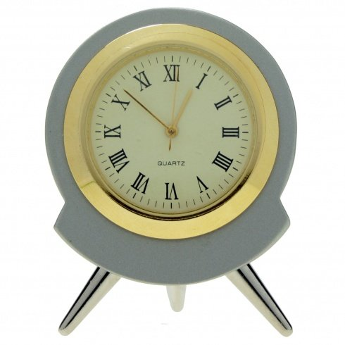 11040 | Reloj Sobremesa Decoracion Miniatura Mod.5455 Cromado Bisel Chap