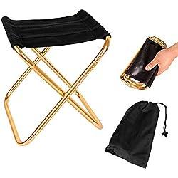 Sprießen Mini Tabouret Chaise de Camping Siège Assise Pliant Portable Pliable Ultra Léger Chaise, Hiking, BBQ, Jardin Pique-Nique Plage(28.5cm*24.5cm*22.5cm)