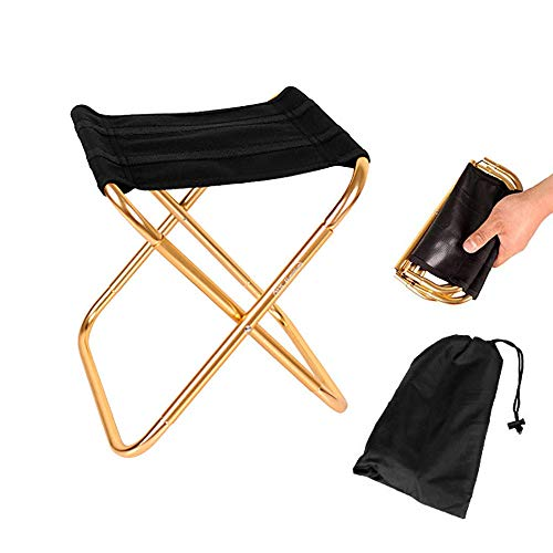Sprießen Klapphocker Camping-Hocker Folding Chair Mini Portable Hocker für BBQ,Camping,Angeln,Reise, Wandern, Garten, Strand Terrasse,Kostenlose Aufbewahrungstasche (28.5cm*24.5cm*22.5cm)