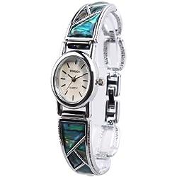 TIME100 Fashion Retro Oval Dial Steel Bracelet Ladies Watch #W50129L.01A