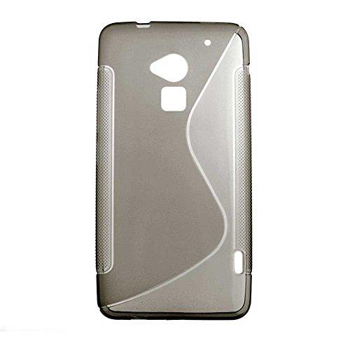 Schutzhülle aus Silikongel für HTC One Max T6 Grip Welle transparent, Schwarz (Holster Htc One)