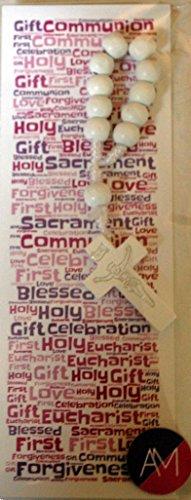 rosario-de-primera-comunion-blanco-y-marcapaginas-sola-decada-gorgeous-diseno-de-chicas-1st-comunion