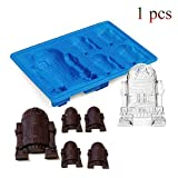 Force Awake Silikon Ice Cube Tablett Star Wars Schokolade Jelly Candy Seife Kuchen Form zufällige Farbe (1 pc)