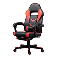 HomeSailing EU Home Office Racing Gaming Chairs with Arms Ergonomic Swivel Chairs with Wheels Adjustable PU Leather Desk Chairs for PC Computer Desk with Headrest Lumbar Support for Adult Heavy Duty